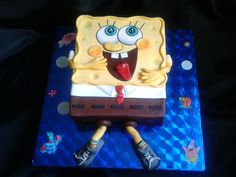 детский торт Губка Боб