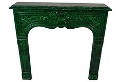 Faux-Malachite Mantel on OneKingsLane.com