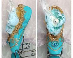 Princess Jasmine | Disney Inspired Decorated Pointe Shoe | Fantaisie Pointe Shoe Designs