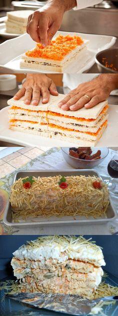 Torta Fria de Frango Maravilhosa! #torta #tortafriadefrango#comida #culinaria #gastromina #receita #receitas #receitafacil #chef #receitasfaceis #receitasrapidas