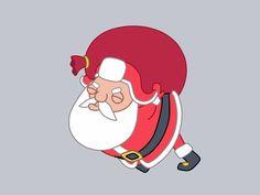 Santa walking cycle by Denis Sazhin / Iconka
