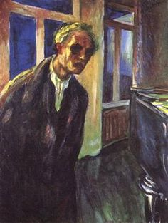 Self-portrait. The night wanderer - Edvard Munch