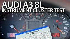 How to #test instrument cluster outputs in #Audi #A3 #8L #VCDS #cars #diagnsotics