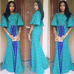 Top Ten Creative Lace And Ankara Aso Ebi Styles 2017 - Dabonke : Nigeria Latest Gist and Fashion 2019 African Print Dresses, African Wear, African Attire, African Fashion Dresses, African Women, African Dress, African Prints, Ghanaian Fashion, Nigerian Fashion