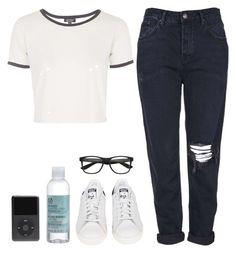 """""""Untitled #18"""" by simonakolevaa ❤ liked on Polyvore featuring Topshop, adidas, The Body Shop, women's clothing, women, female, woman, misses and juniors"""
