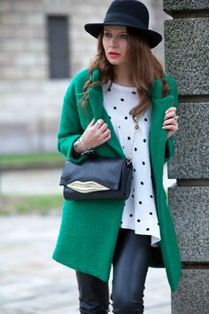 The green coat - The Fashion Fruit