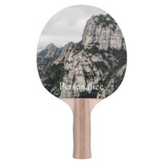 Catalan Landscape Ping Pong Paddle - outdoor gifts unique cyo personalize