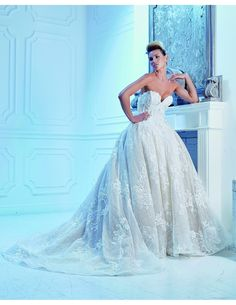 Princess ballgown with intricate lace detailing available at Spotlight Formal Wear! #SpotlightBridal