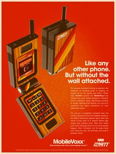 Love these quirky adverts for all our gadgets, with a retro twist - the typography is so Just great! Incredible Retro Art Posters By Alex Varanese Retro Advertising, Retro Ads, Vintage Advertisements, Vintage Ads, Vintage Space, Vintage Office, Advertising Campaign, Crea Design, Ad Design