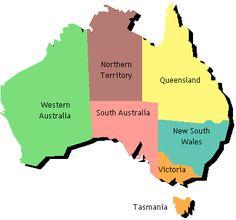 Australia is divided into 6 states: New South Wales, Victoria, Queensland, South Australia, Western Australia and Tasmania and 2 territories; the Australian Capital Territory and the Northern Territory. Australia is divided into three separate time zones. Australia Map, Visit Australia, Western Australia, Perth, Brisbane, Melbourne, Scentsy Australia, Map Quiz, Australian Curriculum