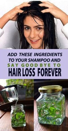 Add These Two Ingredients in Your Shampoo to Prevent Hair Loss #hairlossnaturalremedies