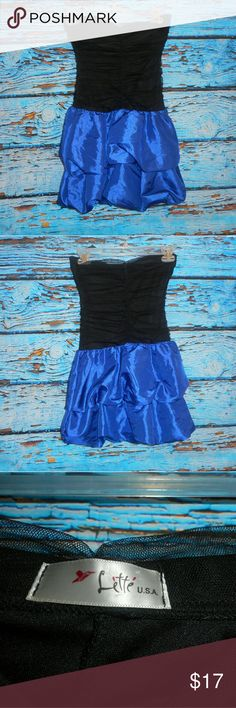 Lette Black And Blue Dress Only worn once, this dress is in great condition. It measures approximately 24 inches in length and approximately 13 inches pit to pit. Lette Dresses