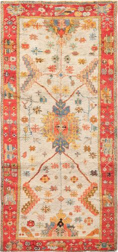 Beautiful Antique Turkish Oushak Rug 49834 by Nazmiyal Tribal Rug, Modern Decor, Modern Rugs