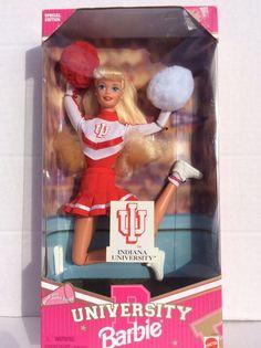Indiana University Barbie Doll Brand New