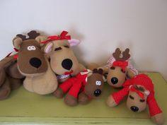 Rhonda, Randy, Ramona Reindeer Dolls
