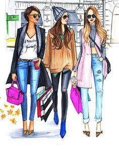 friends.quenalbertini: A friend's shopping day.. the best!