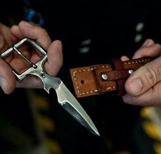 Hidden Knife in belt