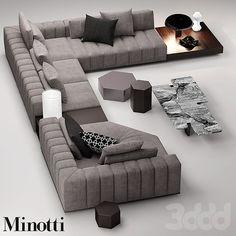 3d модели: Диваны - minotti freeman seating system