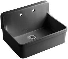 """Gilford 30"""" x 22"""" x 9-1/2"""" Wall-Mount/Top-Mount Single-Bowl Kitchen Sink"""