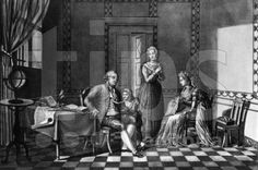 Louis XVII receiving his education from Louis XVI in the Temple Prison in 1792