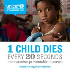 Vaccinating one child saves a life. Vaccinating every child stops disease in its tracks. #vaccineswork
