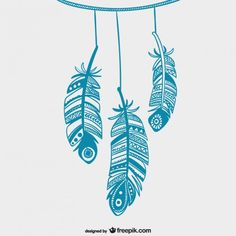 #feather #vector #blue