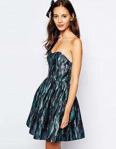 17b446e28e Jack Wills Feather Print Prom Dress at asos.com