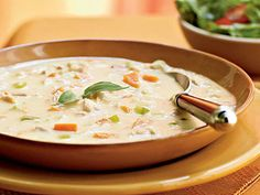 Turkey and Potato Soup with Canadian Bacon | Soups, stews, gazpachos, and purees—there is bound to be something for everyone (and every season) on our extensive list of favorite, healthy soups.