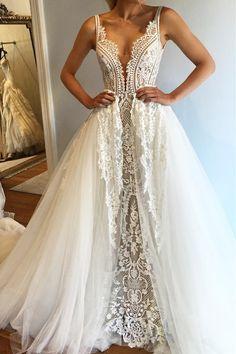 vintage lace wedding dresses, unique deep v neck wedding dresses, lace dresses to wear to a wedding