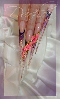 roses by Darhon - Nail Art Gallery nailartgallery.nailsmag.com by Nails Magazine www.nailsmag.com #nailart