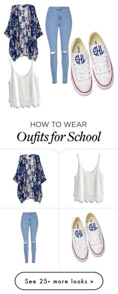 """high school"" by christynstuff on Polyvore featuring Glamorous, Chicwish and Converse"