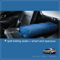 Split-folding seats = smart and spacious. #Kia #KiaRio #cars