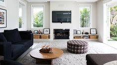 lounge room ottoman fireplace tv jan15