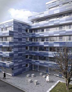 Architekturvisualisierung Berlin berlin hotel rooftop woodstrucutre modular render