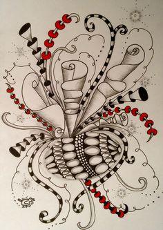 Zentangle Zentangle Pens, Zentangle Drawings, Doodles Zentangles, Doodle Art Designs, Doodle Patterns, Zentangle Patterns, Zantangle Art, Doodle Sketch, Zen Doodle