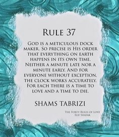 Rule 37 of Shams Tabrizi's forty rules of love. Taken from the novel 'The Forty Rules of Love' written by Elif Shafak. Best Rumi Quotes, Rules Quotes, Sufi Quotes, Spiritual Quotes, Islamic Quotes, Inspirational Quotes, Faith Scripture, Scripture Quotes, Book Quotes