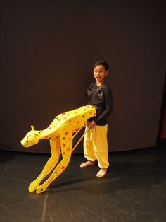 Cheetah costume for The Lion King Junior musical production. Created by Sally Gregory at Canadian Lead Primary School.