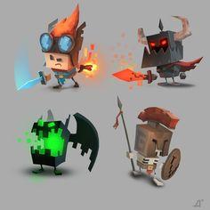 Retro 3D Picture (2d, cartoon, 3d, characters, retro, pixel art, game