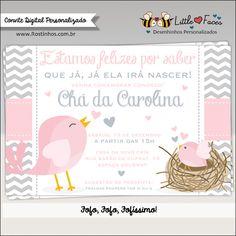 Convite Chá de Bebê Passarinho para imprimir