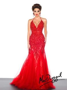 Mac Duggal Black White Red - 81896R available at Party Dress Express - 657 Quarry Street - Fall River, MA 02723 - WWW.PARTYDRESSEXPRESS.COM