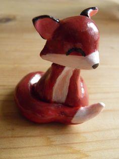 Fimo first attempt - fox by NorthStarCherry.deviantart.com