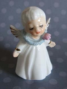 Vintage NAPCO ANGEL Ceramic Figurine  Adorable & by MADsLucky13, $6.50