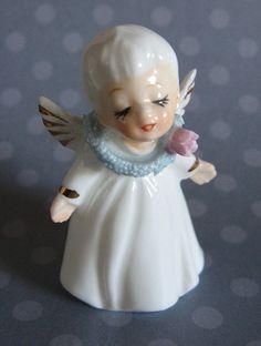 Vintage NAPCO ANGEL Ceramic Figurine  Adorable & by MADsLucky13, $6.50
