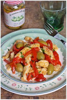 Farina, lievito e fantasia: Pollo con peperoni e olive