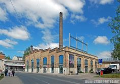 Old factory building now is concert hall on Lacplesa street