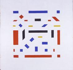 Bart van der Leck - Compositie 1918, no. 5 Museum de Fundatie Zwolle