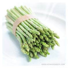 Asparagus is a great source of fibre, antioxidants of vitamins A, C, E & K making it a perfect addition to any  meal. xxx #KORAOrganicsLifestyle