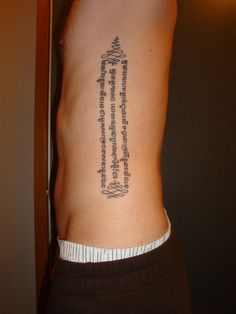 "fuckyeahtattoos:  when my dad died i got this tattoo, it is a buddhist saying in khmer        ""no one saves us but ourselves,        no one may and no one can,        we ourselves must walk the path"""