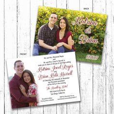 custom wedding announcements, custom invitations, custom LDS wedding announcements and invitations including inserts, custom designs for photos,