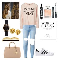 """""""Sans titre #36"""" by likeanangels ❤ liked on Polyvore featuring Vero Moda, Maybelline, Chanel, MICHAEL Michael Kors, Marc by Marc Jacobs and Eddie Borgo"""
